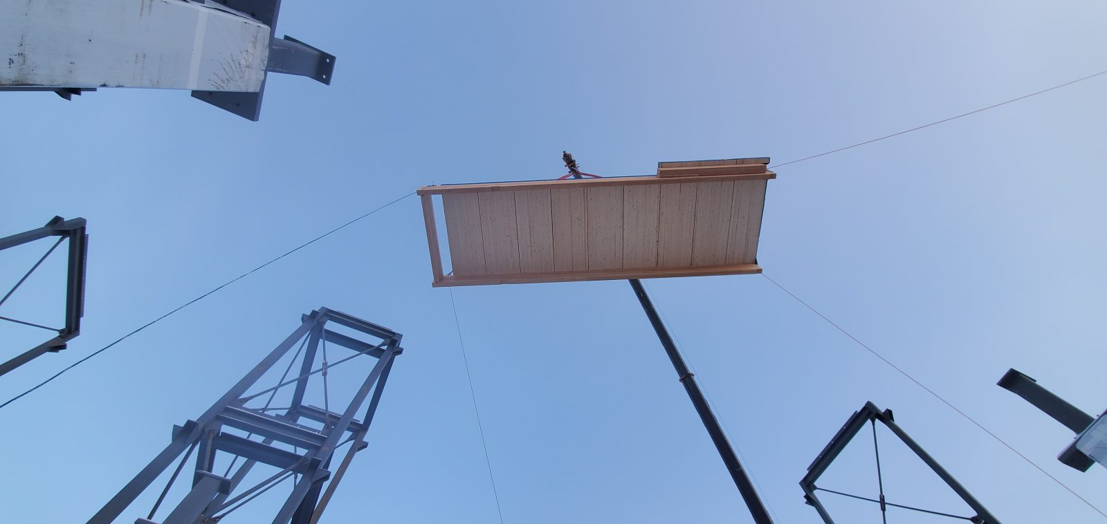 Mass timber hoisted