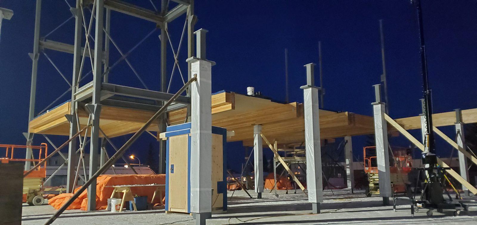 Fort St. John Civic Building construction
