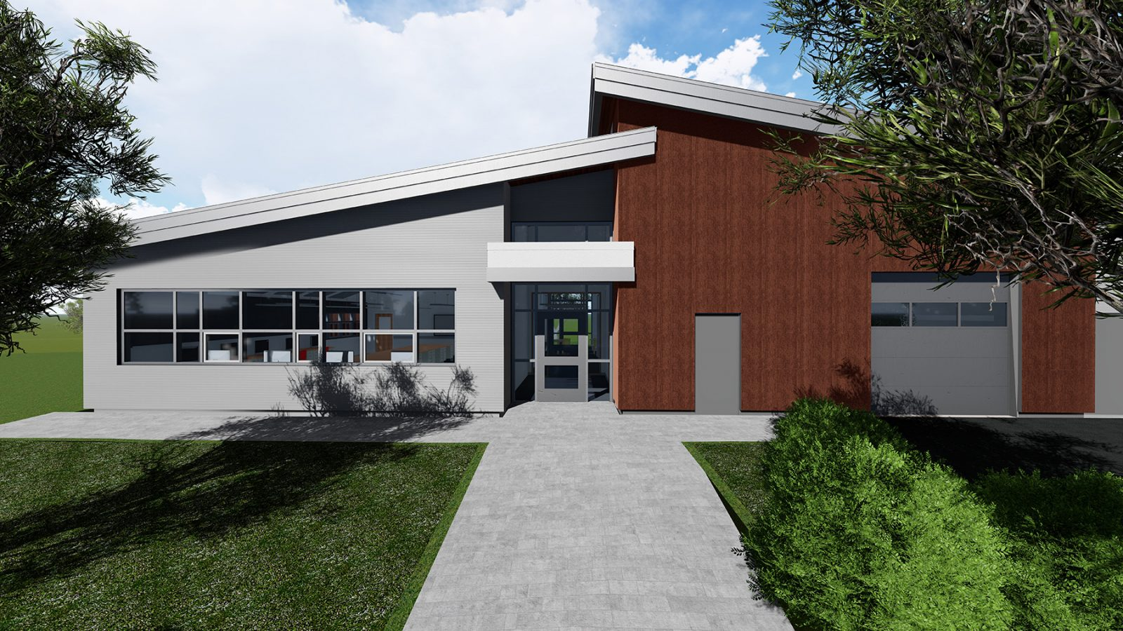 Rendering new fire hall Prince George