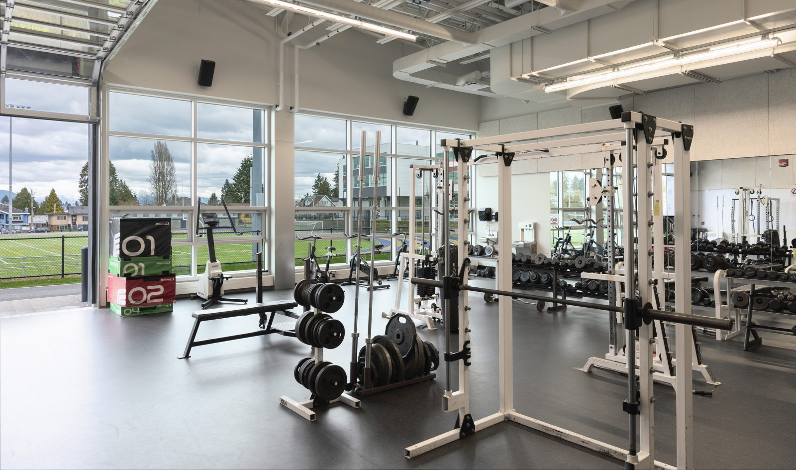 New Westminster Secondary fitness room