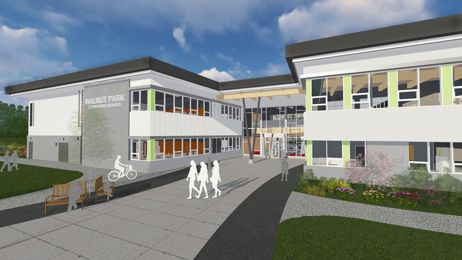 Walnut Park Elementary School Rendering
